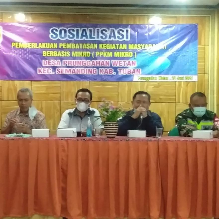 Sosialisasi Pemberlakuan Pembatasan Kegiatan Masyarakat Berbasis Mikro